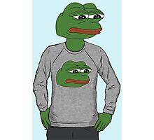 Pepe in pepe sweater Photographic Print