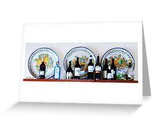 Bottles & plates Greeting Card