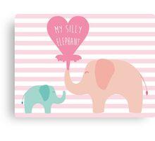 My Silly Elephant Canvas Print