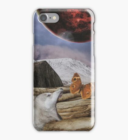 Under a blood red moon iPhone Case/Skin