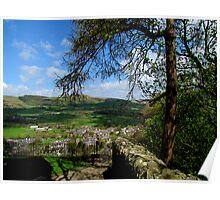 Castleton from Peveril Castle Poster