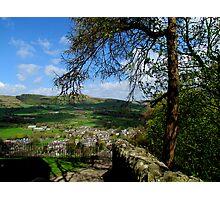 Castleton from Peveril Castle Photographic Print