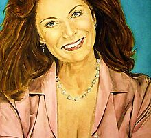 Kay Parker watercolor by DeniseLaFrance4