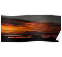 Sun Rise Over Mount Diablo Poster