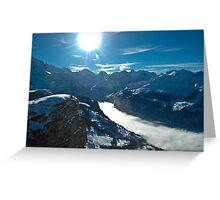 Mannlichen Winter Scene Greeting Card
