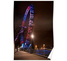 Red White Blue - London Eye & Big Ben Poster