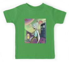 Rick and Morty Doctor Who Kids Tee
