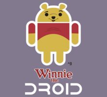 Winnie the Droid (text) Kids Clothes
