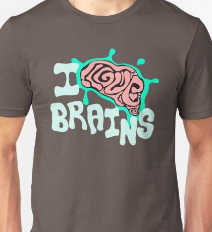 I Love Brains (Dark Tee's) Unisex T-Shirt