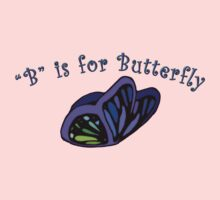 B is for Butterfly One Piece - Long Sleeve