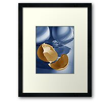 Hatched, an image of eggshells and feather Framed Print