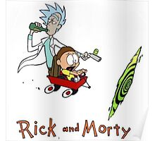 Rick and Morty Calvin and Hobbes Poster