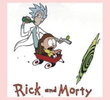 Rick and Morty Calvin and Hobbes One Piece - Short Sleeve