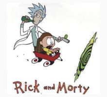 Rick and Morty Calvin and Hobbes by boostedartwork