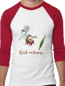 Rick and Morty Calvin and Hobbes Men's Baseball ¾ T-Shirt