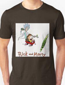 Rick and Morty Calvin and Hobbes T-Shirt