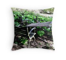 COUNTRY TABLE AND CHAIRS Throw Pillow