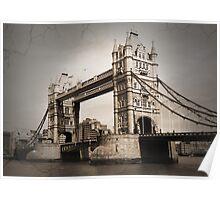 London Tower Bridge Poster