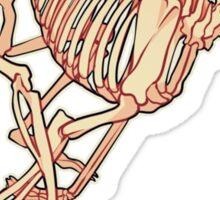Borzoi Skelie Sticker