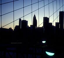 Brooklyn Bridge Skyline by Alberto  DeJesus
