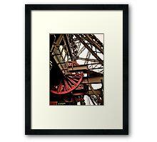 Red Wheel Pulls Framed Print