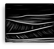 black and white oil pastels Canvas Print