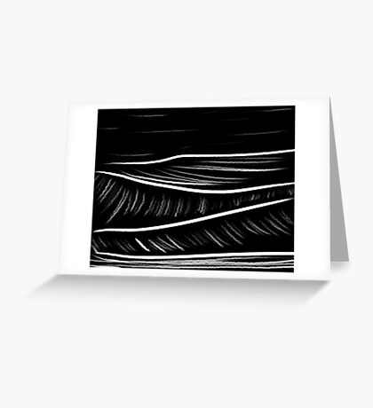 black and white oil pastels Greeting Card