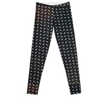 Black beans print Leggings