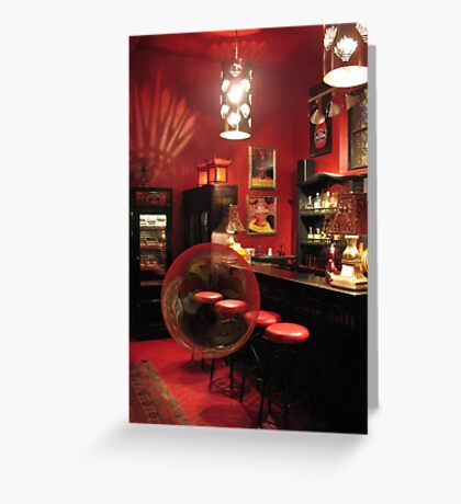 Hotel California with Bubble Greeting Card