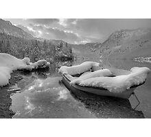 Lake Bohinj in Winter, Slovenia Photographic Print