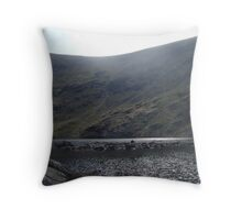 glacial corrie and tarn - borrowdale valley Throw Pillow