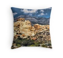 Colorful Hills in Red Rock Canyon Throw Pillow
