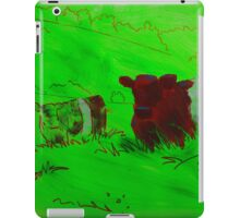 Red Belted galloway cows  iPad Case/Skin