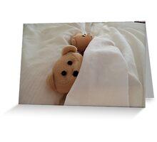 Sleeping in late - Teddy Bears  Greeting Card