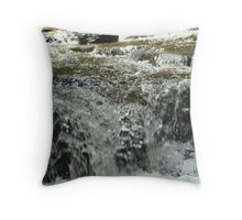 Water Falling Over Rocks Throw Pillow