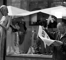 the newspaper reader by fabio piretti