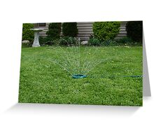 Sprinkler Kicks Off Summer Greeting Card