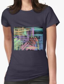 oil pastels pattern Womens Fitted T-Shirt
