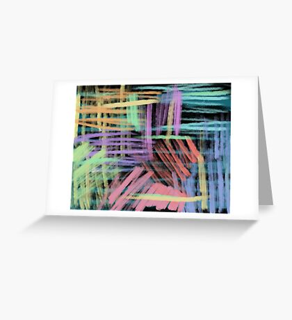 oil pastels pattern Greeting Card