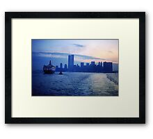 New York City Dawn Framed Print