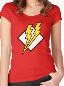 double lightning Women's Fitted Scoop T-Shirt