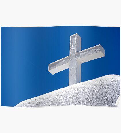 Taos Pueblo Cross Poster