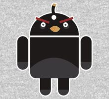 Droidbird (black bird) One Piece - Long Sleeve