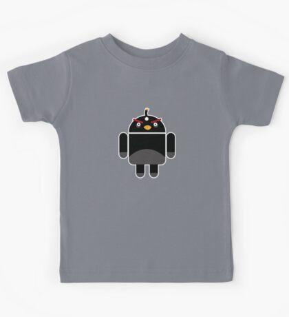 Droidbird (black bird) Kids Tee