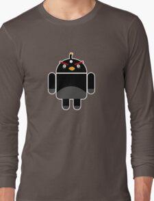 Droidbird (black bird) Long Sleeve T-Shirt
