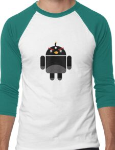 Droidbird (black bird) Men's Baseball ¾ T-Shirt