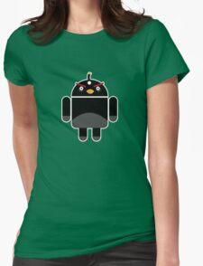 Droidbird (black bird) Womens Fitted T-Shirt