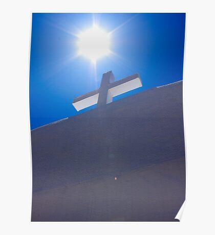 Cross at San Geronimo, Taos Pueblo Poster