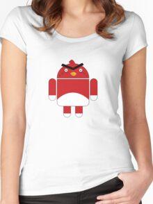 Droidbird (red bird) Women's Fitted Scoop T-Shirt