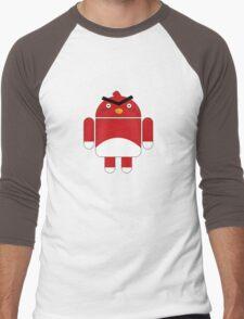 Droidbird (red bird) Men's Baseball ¾ T-Shirt